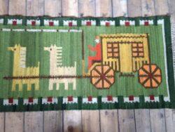M. Janowska vintage vloerkleed rug wallart jaren 60