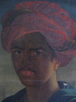 Olieverf schilderij op doek Indonesië man