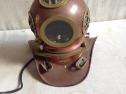 Vintage duikerklok lamp koper jaren zestig