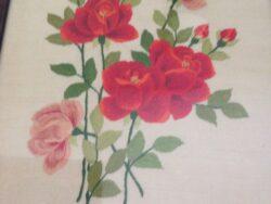 Vintage schilderij rozen