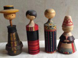 Russische houten popjes jaren zestig