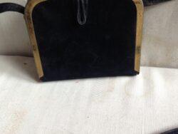 Schoudertas fluweel zwart