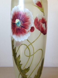 Vintage glas Tsjechoslowakije hand beschilderd