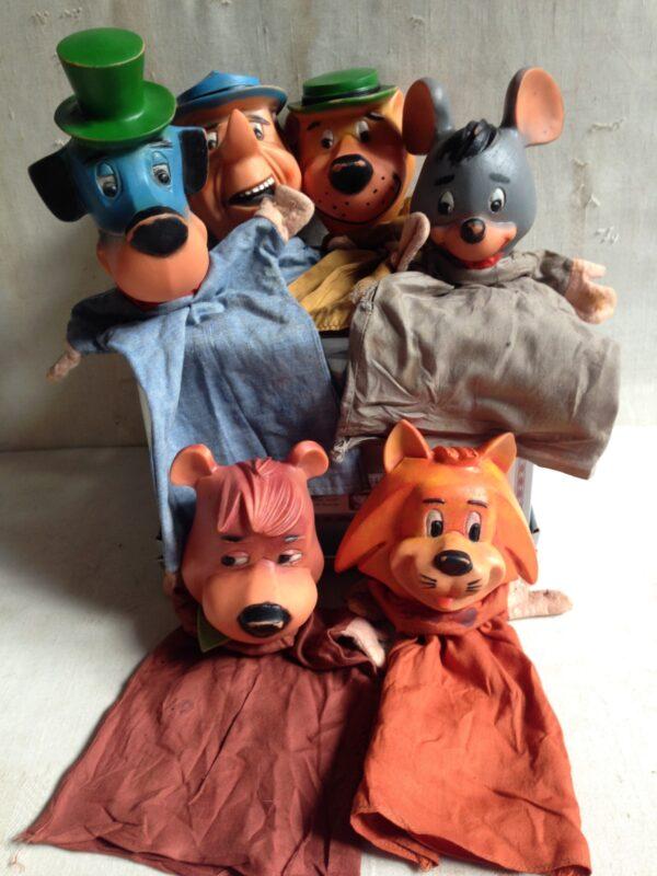 Poppenkast poppen vintage Yogi Bear Hanna Barbara jaren 60