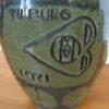 Vintage keramiek vaas Tilburg 1971