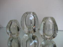 Floris Meydam glas Leerdam spijkervaasjes driehoek