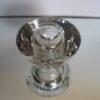 A.D. Copier glas Leerdam dikwandig blank glas
