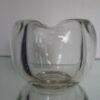 Leerdam glas asbak blank dikwandig
